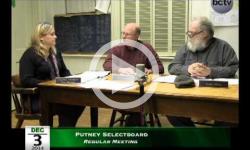 Putney Selectboard Mtg 12/3/14