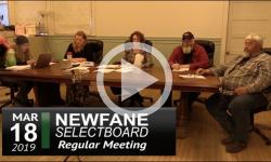 Newfane Selectboard Mtg 3/18/19