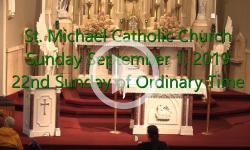 Mass from Sunday September 01, 2019