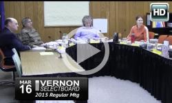 Vernon Selectboard: 3/16/15