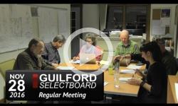 Guilford Selectboard Mtg 11/28/16
