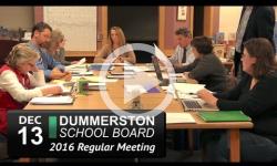 Dummerston School Bd Mtg 12/13/16
