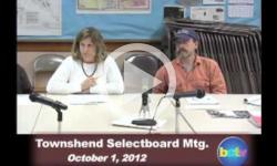 Townshend Selectboard Mtg 10/1/12