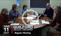Guilford Selectboard Mtg 3/11/19