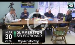 Dummerston Selectboard Mtg 3/30/16