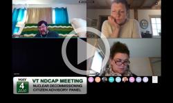 VT Nuclear Decommissioning Citizens Advisory Panel: NDCAP Meeting 5/4/20
