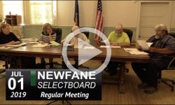 Newfane Selectboard Mtg 7/1/19