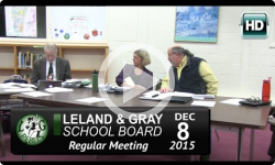 Leland and Gray School Board 12/8/15