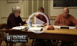 Putney Selectboard Mtg 11/28/18
