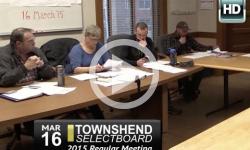Townshend Selectboard Mtg 3/16/15