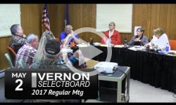 Vernon Selectboard Mtg 5/2/17