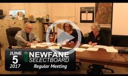 Newfane Selectboard Mtg 6/5/17
