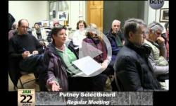 Putney Selectboard Mtg. 1/22/14