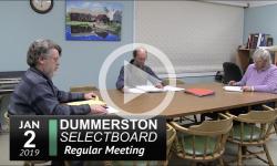 Dummerston Selectboard Mtg 1/2/19