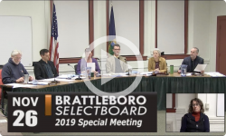Brattleboro Selectboard Special Mtg 11/26/19