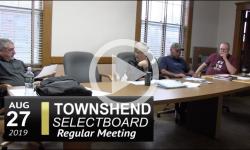 Townshend Selectboard Mtg 8/27/19