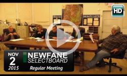 Newfane Selectboard Mtg 11/2/15