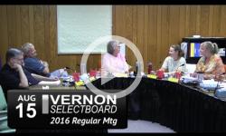 Vernon Selectboard Mtg 8/15/16
