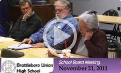 Brattleboro Union High School Bd. Mtg. 11/21/11