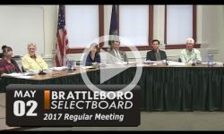 Brattleboro Selectboard Mtg 5/2/17