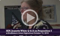 Sen. Jeanette White Q &A with BUHS Students  on Proposition 5