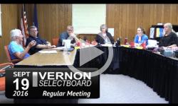Vernon Selectboard Mtg 9/19/16