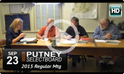 Putney Selectboard 9/23/15