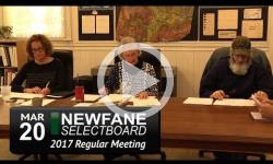 Newfane Selectboard Mtg 3/20/17