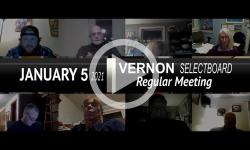 Vernon Selectboard: Vernon SB Mtg 1/5/21