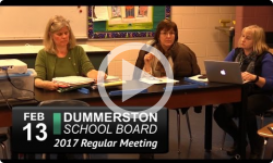 Dummerston School Bd Mtg 2/13/17