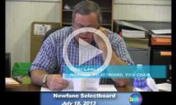 Newfane Selectboard Mtg. 7/18/13