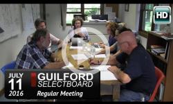 Guilford Selectboard Mtg 7/11/16