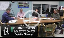 Dummerston Selectboard Mtg 2/15/17