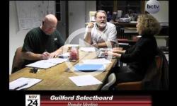 Guilford Selectboard Mtg 11/24/14