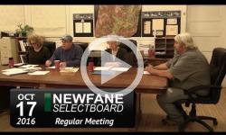 Newfane Selectboard Mtg 10/17/16