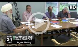 Dummerston Selectboard Mtg 6/24/15