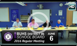 BUHS School Board Mtg 6/6/16