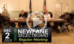Newfane Selectboard Mtg 12/2/19