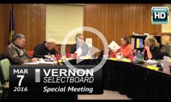 Vernon Selectboard Mtg 3/7/16