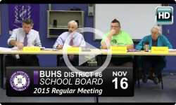BUHS School Board Mtg 11/16/15