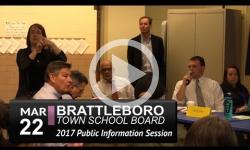 Brattleboro Town School Bd - Pre-Rep Town Mtg Info Session 3/22/17