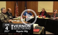 Vernon Selectboard Mtg 4/4/17