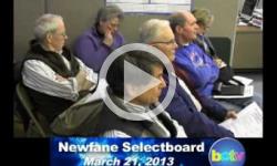 Newfane Selectboard Mtg. 3/21/13