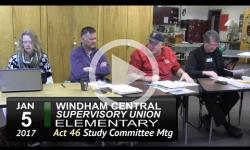 WCSU Elementary School Act 46 Sudy Committee Mtg 1/5/17