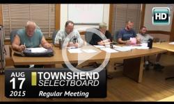 Townshend Selectboard: 8/17/15