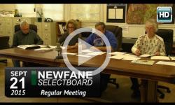 Newfane Selectboard Mtg 9/21/15