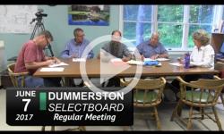 Dummerston Selectboard Mtg 6/7/17