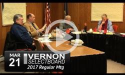 Vernon Selectboard Mtg 3/21/17