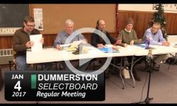 Dummerston Selectboard Mtg 1/4/17