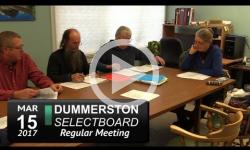 Dummerston Selectboard Mtg 3/15/17
